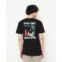 Kaos Pria Erigo T-Shirt Good Beach Cotton Combed Black - M