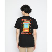 Kaos Pria Erigo T-Shirt Arcade Game Cotton Combed Black