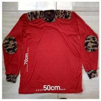 Panjang Pramuka Kaos Lengan Merah Baju PDL PDL Polos Kaos Pramuka PDL