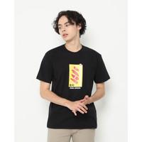 Kaos Pria Erigo T-Shirt Salmon Box Cotton Combed Black - S