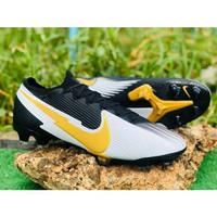 Sepatu Bola Nike mercurial Vapor 13 Elite Black White Yellow FG