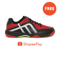 NEW Phoenix Drive Sepatu Badminton Pria - Black Red SBD