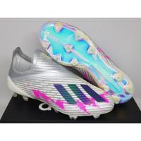 Sepatu Bola Adidas X 19+ PureSpeed Silver Black Pink FG