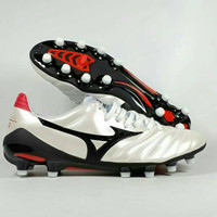 Sepatu Bola Mizuno Morelia Neo II Pearl White/Black FG