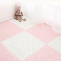 32pcs Matras Puzzle Bahan Busa Eva Warna Biru Dan Pink Untuk Bayi