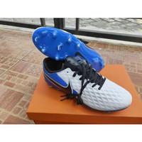 Sepatu Bola Nike Tiempo Legend 8 White Blue FG