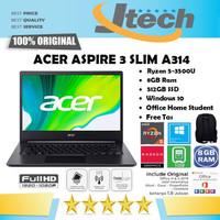 ACER ASPIRE 3 SLIM A314-22 - RYZEN 5-3500U - 8GB - 512GB SSD - 14FHD