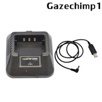USB Charger Adapter For for Baofeng UV-5R DM-5R BF-F8 BF-F8HP Ham