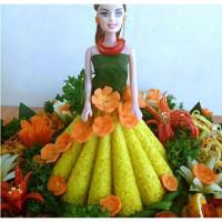 Loyang rok barbie / Cetakan tumpeng puding barbie