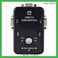 USB2.0 Manual Audio Video VGA Switcher Two Inputs One Ouput KVM Splitt