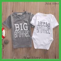 Kaos T-Shirt Anak Laki Romper Bayi Lengan Pendek Matching Kembar Kakak
