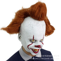 TOL-28 topeng latex karet full head kepala it badut clown pennywise