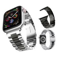 Strap Bahan Stainless Steel Untuk Apple Watch Series 5 4 3 2 1