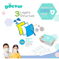 NEW Sugar Baby Masker Anak 3 Ply Protective Kids Face Mask By Lil Doct