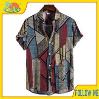 Kemeja pria jumbo big size retro vintage modern baju lebaran FMI10