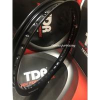 VELG U SHAPE 140 X 17 RiNG 17 BLACK HITAM - TDR RACING
