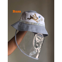 Hat with Arkamaya Protection Embroidery. perlindungan cover Topi Attac