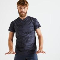DOMYOS Slim-Fit T-Shirt - Printed Grey/Black - 8606336