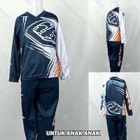 Baju/Kaos/Jersey DryFit Print Balap Motor/Moto X/Moto Cross Anak Navy