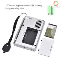 K607 Radio Am/Fm/Sw/Tf Card Mp3 Digital Saku Portable Dengan Perekam