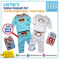 Carter 2in1 Setelan Baju Kaos Anak Bayi Celana Panjang - Sleepsuit
