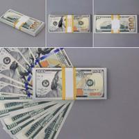 Mainan: 100 Lembar Uang Tunai 100 Dollar untuk Latihan