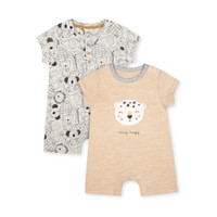 Mothercare Baby Leopard Rompers - 2 pack - Setelan Bayi (Multicolour)
