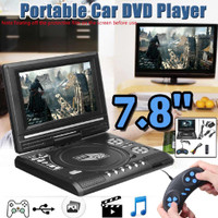 7,8 In DVD Portable EVD VCD Video Music Player Analog TV AV FM USB
