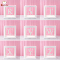 1Pc Transparent Square Cardboard Box Balloon Box for Baby Shower
