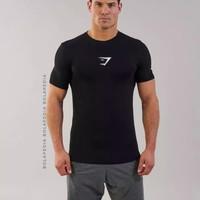 Kaos Gym shark baju gym fitnes fitness santai pria