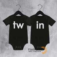 Kaos Sablon Baju Bayi Kembar / Jumper Custom Nama Bayi #TW01
