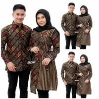 Baju Couple Batik Sania Ruffle Batik Couple Ori Ndoro Jowi DNT Garansi