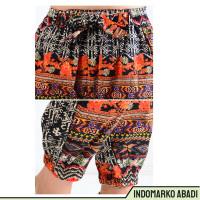IdMarko Celana Jogger Cropped Corak Batik Wanita dewasa -