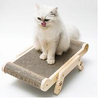 Cat Scratch Cardboard Catnip Scratching Pad Scratcher Sofa Post Bed