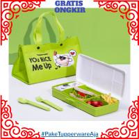 Lunch Box Set Tupperware - Tas Makan Set Anak Tupperware 4 Sekat