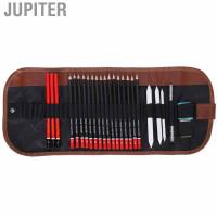 Jupiter Sketch Pencil Set Art Drawing Kit Charcoal Eraser Pen