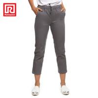 Ramayana - JJ Jeans - Celana Reguler Chinos Wanita Abu Muda - 29
