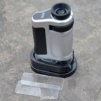 Mikroskop Monokuler Saku Mini Hd Zoom Dengan Lampu Led Uv Untuk
