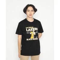Kaos Pria Erigo T-Shirt Los Angeles Legend Cotton Combed Black - S