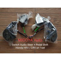 STIR THP SWITCH AUDIO STEER DAN PEDAL SHIFT HONDA HRV CRV ORI 1SET
