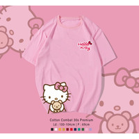 HELLO KITTY T-Shirt / KAOS UK OVERSIZE FIT TO XL UNISEX TERMURAH -