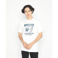 Kaos Pria Erigo T-Shirt World Cup Football Cotton Combed White - S