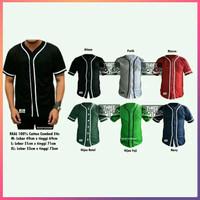 Murah baju base ball polos Kaos baseball Pria - Katun Combed 24s