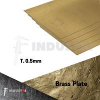 Plat Kuningan 0.5mm   Brass Plate harga per 1 cm2
