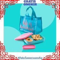 Tempat Makan Tupperware-Tas Makan Lunch Box Set-Kotak Makan