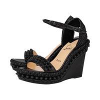 Christian Louboutin Lata Sandal Wedges 110mm - Black