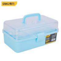 Deli Art Toolbox / Kotak Perkakas Plastik 13 2 Tingkat Kuat DL432013A