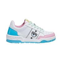 Chiara Ferragni CF-1 Sneakers White Pink Blue