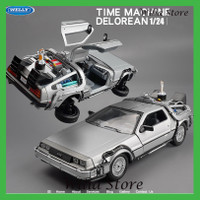 WELLY 1:24 Alloy Classic Diecast Car delorean Back to The Future part