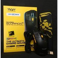 TERBAIK Mouse Gaming Macro Armageddon Scorpion 5 Mousepad GAMG